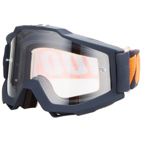 100% Accuri Anti Fog Clear Goggles gunmetal